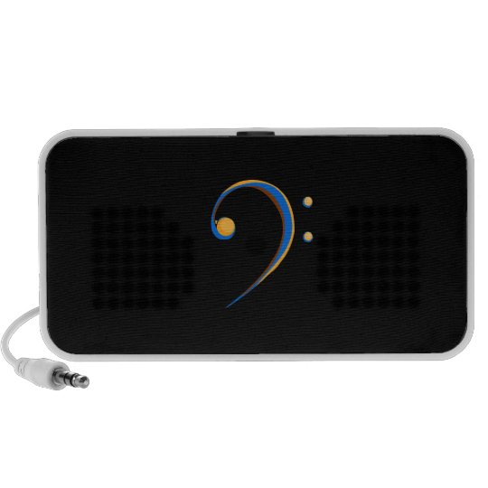Bass Clef Casual Style Orange and Blue Speaker