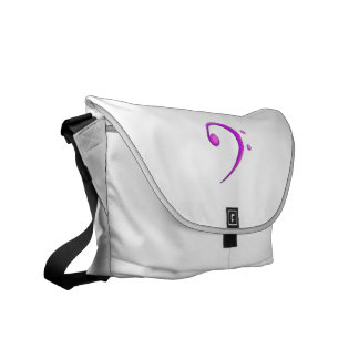 Bass Clef Casual Style Purple Messenger Bag