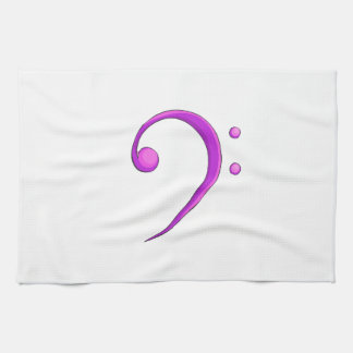 Bass Clef Casual Style Purple Towel