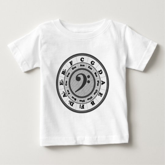 Bass Clef Circle of Fifths Baby T-Shirt