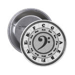 Bass Clef Circle of Fifths Button