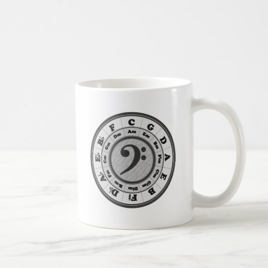 Bass Clef Circle of Fifths Coffee Mug