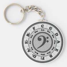 Bass Clef Circle Of Fifths Keychain at Zazzle