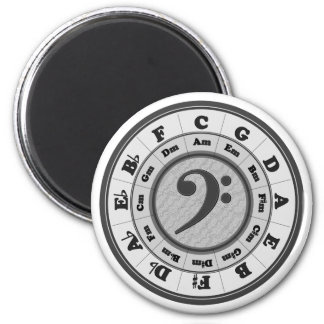 Bass Clef Circle of Fifths Magnet