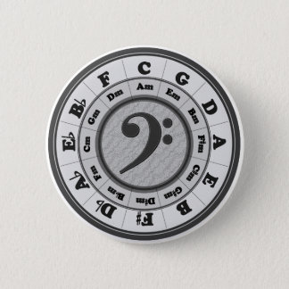 Bass Clef Circle of Fifths Pinback Button