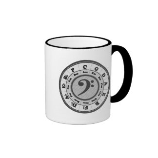 Bass Clef Circle of Fifths Ringer Coffee Mug