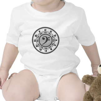 Bass Clef Circle of Fifths Bodysuit