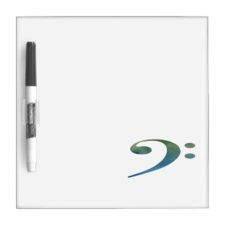 bass clef clouds green blue Dry-Erase boards