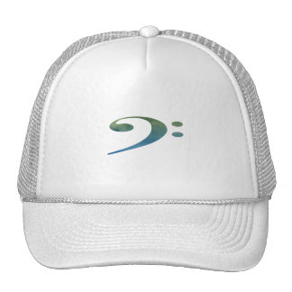 bass clef clouds green blue mesh hats