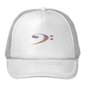 bass clef clouds purple orange trucker hat