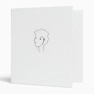 Bass Clef Ear design binder