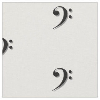 Bass Clef Fabric by Leslie Harlow