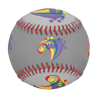 Bass Clef Fan Colorful Emblem Baseball