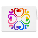 Bass Clef Flower Greeting Card