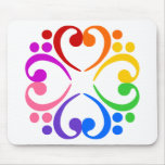 Bass Clef Flower Mouse Pad