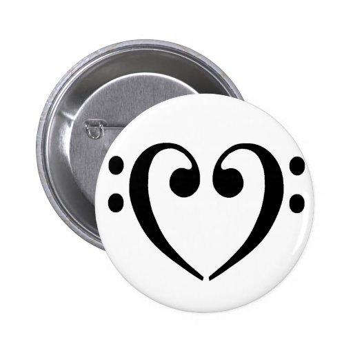 Bass Clef Heart Button
