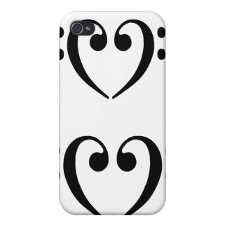 Bass Clef Heart case for iphone 4