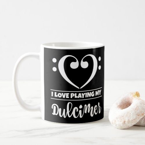 Bass Clef Heart I Love Playing My Dulcimer Coffee Mug