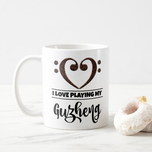 Bass Clef Heart I Love Playing My Guzheng Coffee Mug
