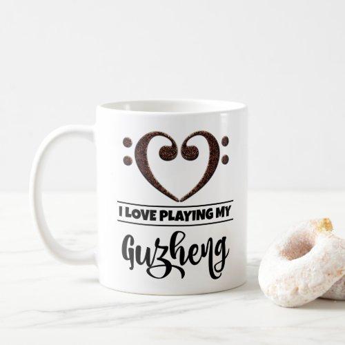 Bass Clef Heart I Love Playing My Guzheng Coffee Mug