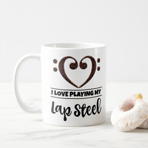 Bass Clef Heart I Love Playing My Lap Steel Classic Coffee Mug