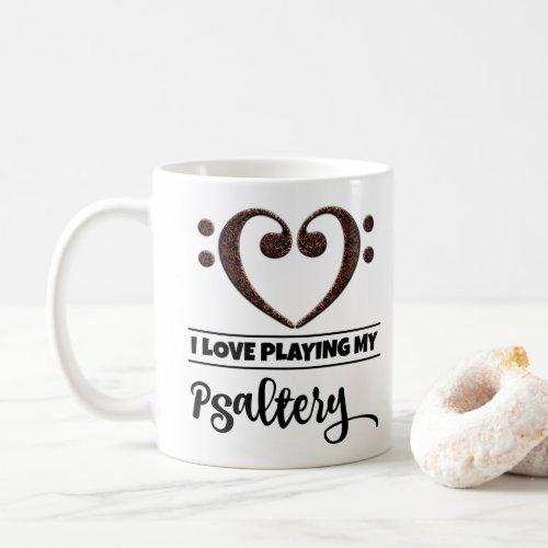 Bass Clef Heart I Love Playing My Psaltery Classic Ceramic Coffee Mug
