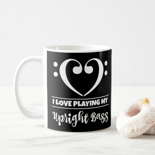 Bass Clef Heart I Love Playing My Upright Bass Classic Coffee Mug