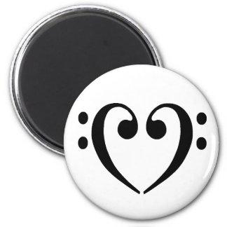 Bass Clef Heart Magnet