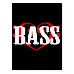 Bass Clef Heart Postcard