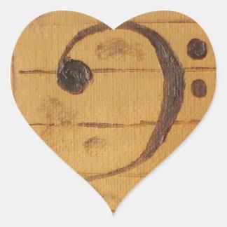 Bass Clef Heart Sticker