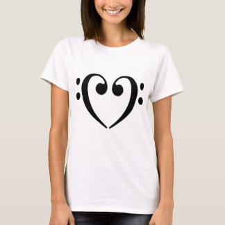 Bass Clef Heart T-Shirt
