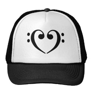 Bass Clef Heart Trucker Hat