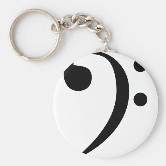 Bass Clef Keychain