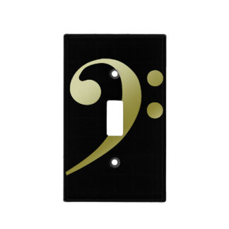 Bass Clef Lightswitch Cover