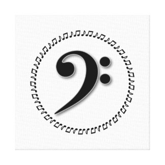 Bass Clef Music Note Design Canvas Print