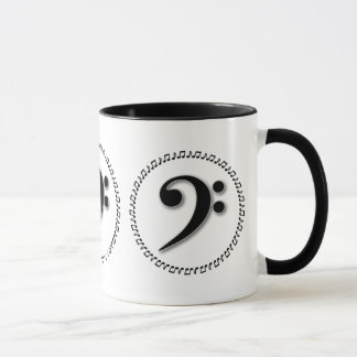 Bass Clef Music Note Design Mug