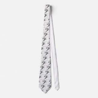 Bass Clef Music Shirts and Clothing Tie