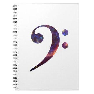 Bass clef nebula 1 notebook