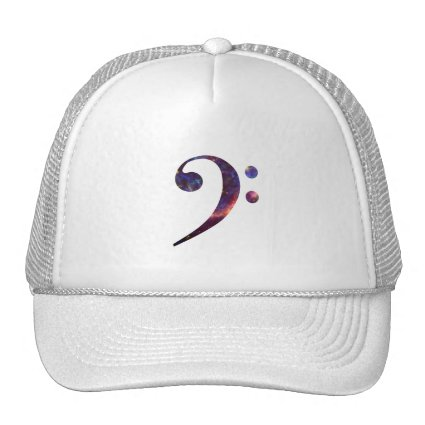 Bass clef nebula 1 trucker hat
