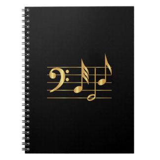Bass clef notebook