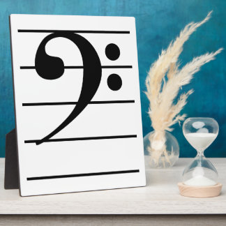 Bass Clef on Staff Plaque