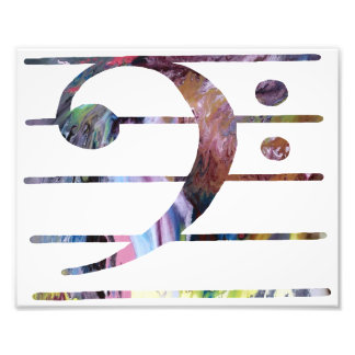 Bass clef photo print
