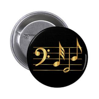 Bass clef pinback button