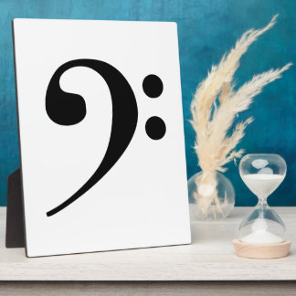 Bass Clef Plaque