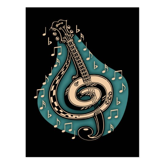 Bass Clef Postcard