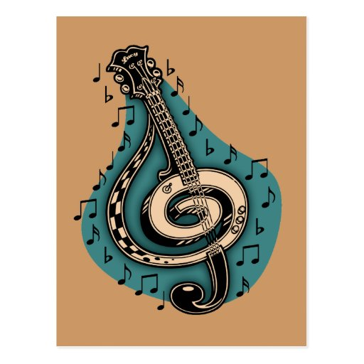 Bass Clef Post Card