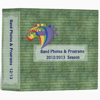 Bass Clef Rainbow Band Picture Album Vinyl Binder
