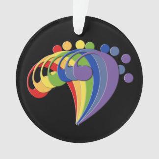 Bass Clef Rainbow Fan Ornament