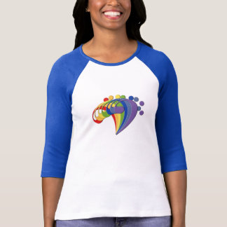 Bass Clef Rainbow Fan T-Shirt