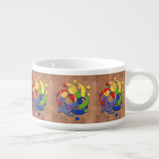 Bass Clef Rainbow Puzzle Ball on Copper Shingles Bowl